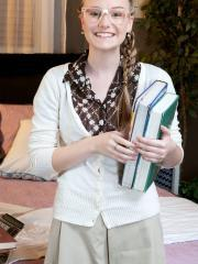 Teen hottie Cassidy Ryan is tutoring the quaterback when they get other ideas
