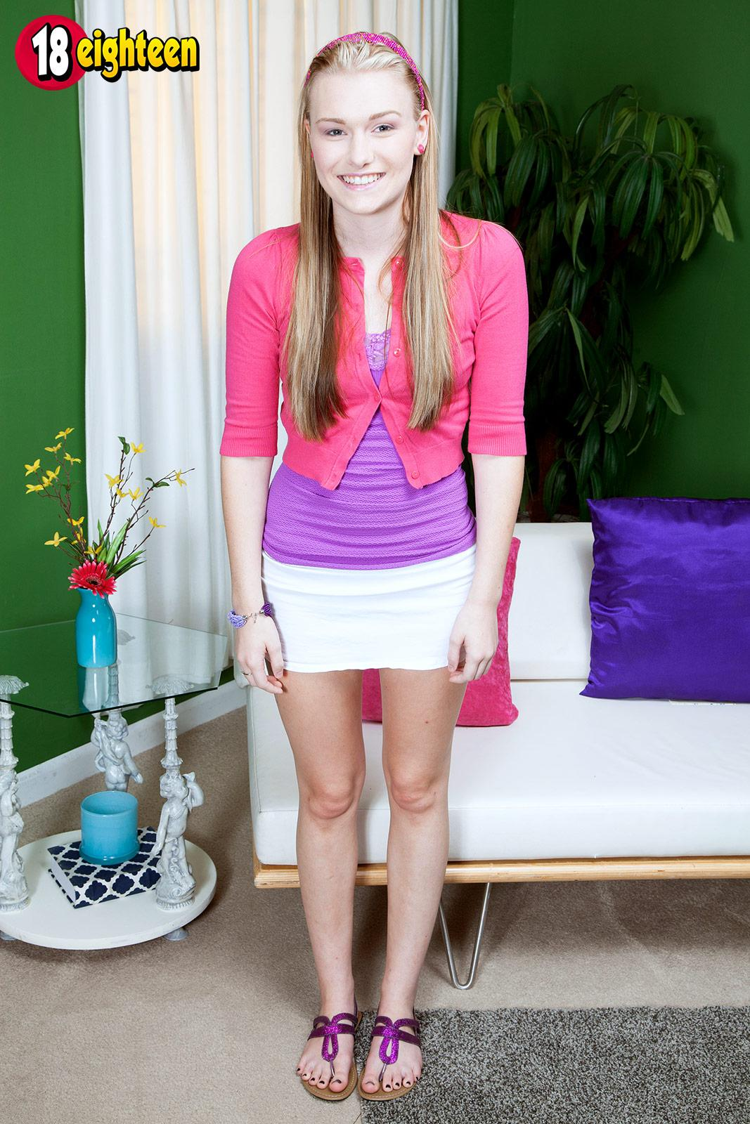Blonde Teen Cassidy Ryan Strips Just For You