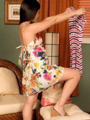 """Asian coed Ava Lee strips for you in """"Asian Delight"""""""
