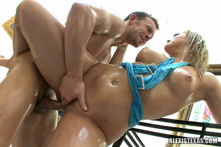 Alexis texas oiled up and fucked