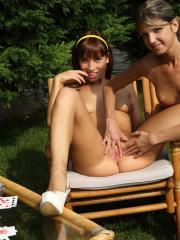 Horny teens Gina Gerson and Tina Hot fuck each other with a strapon