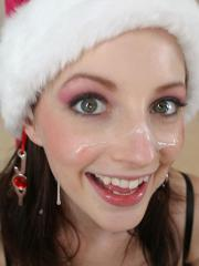 Pictures of Tabetha giving a hot christmas treat