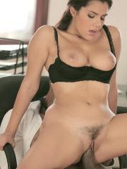 Hot secretary Valentina Nappi gets fucked by her boss's monster black cock