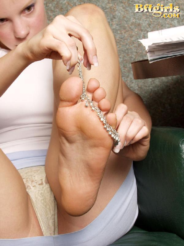 Redhead with bare feet remarkable