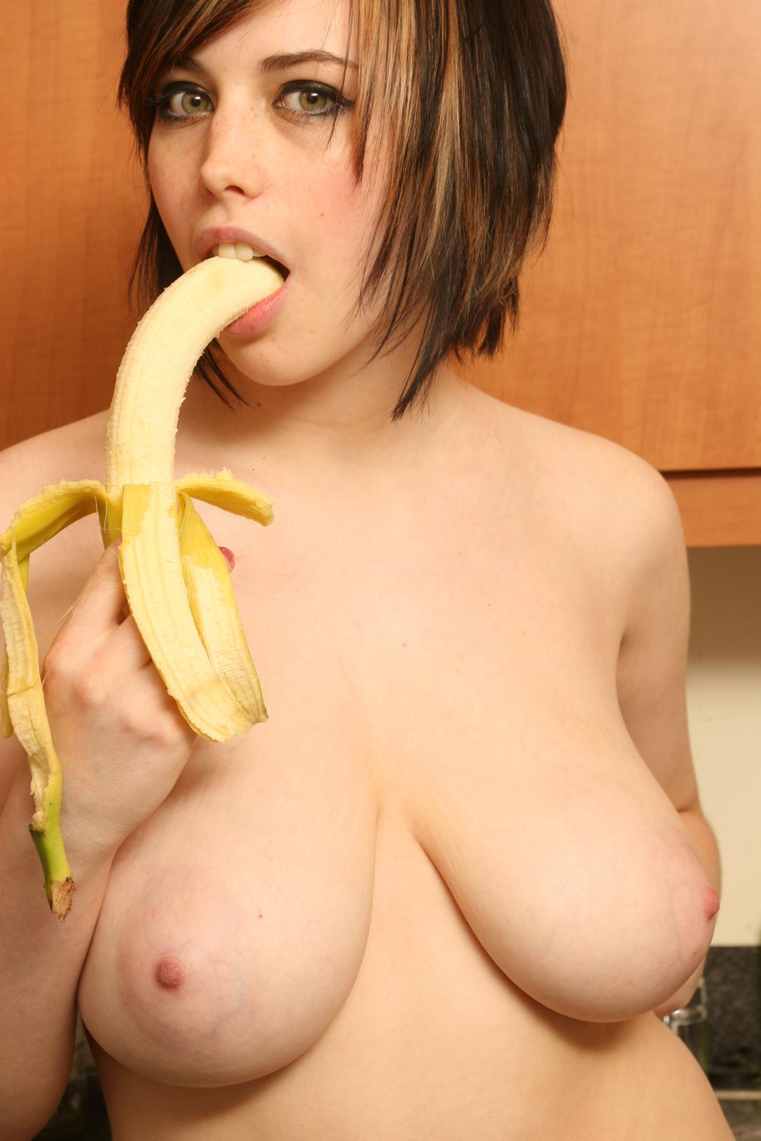 perky banana shaped tits