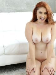 Busty redhead Lennox Luxe gets boned deep and hard