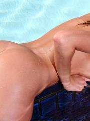 Carli Banks removes her polka-dot thong and gives you her tight pussy