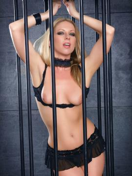 blonde britney-lace cage