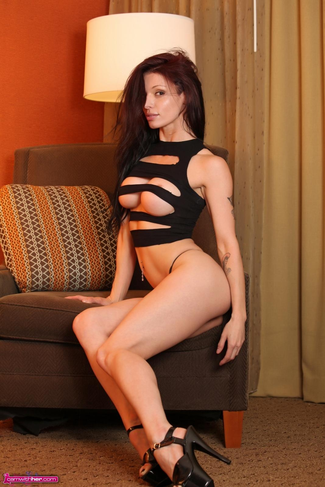 Angelina Stevens Teases In Her Sexy Ripped Topped  Coed -5628