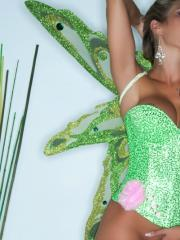 Busty blonde girl Capri Cavalli dresses up herself as a fairy