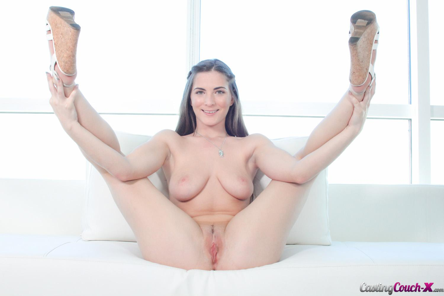 Busty brunette has a nice fat dick to suck an