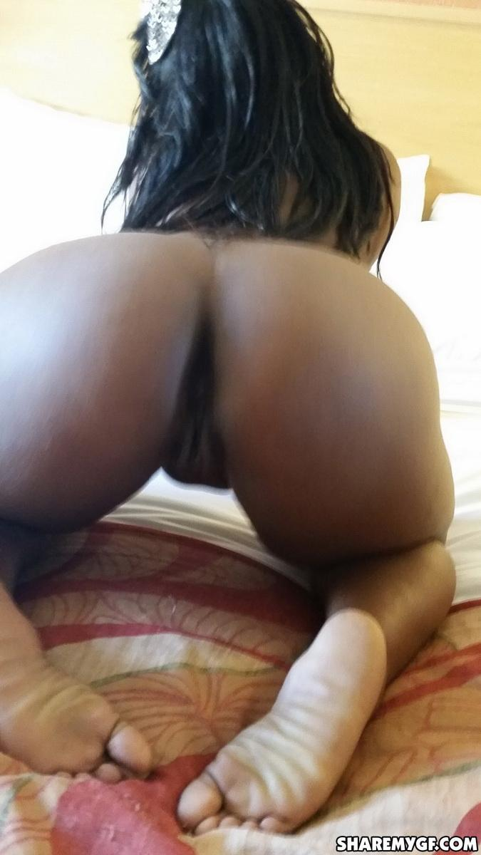 Chubby Black Girlfriend Shows Off Her Big Booty In A Tiny -1470