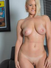 Blonde amateur Katie strips out of her jeans for you