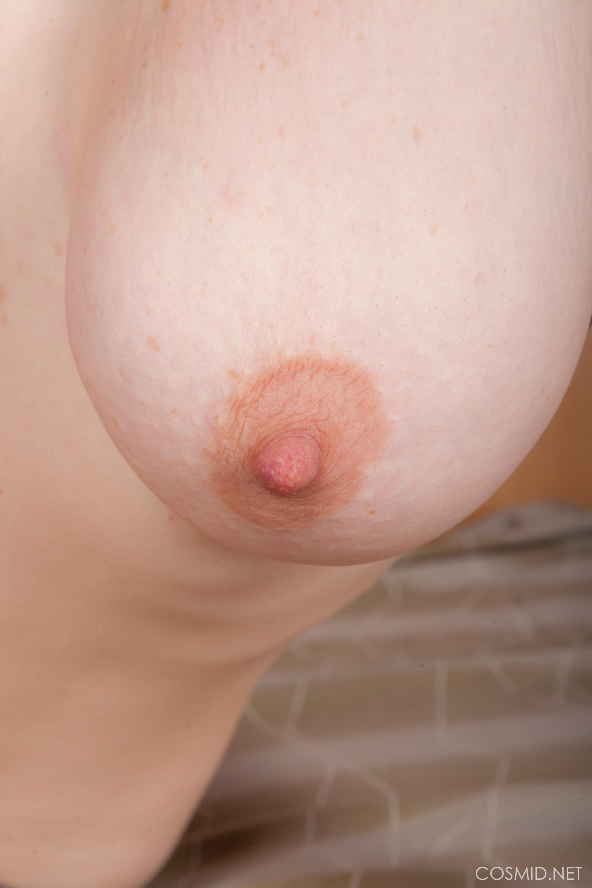 Natural busty redhead masturbates in her tube 7