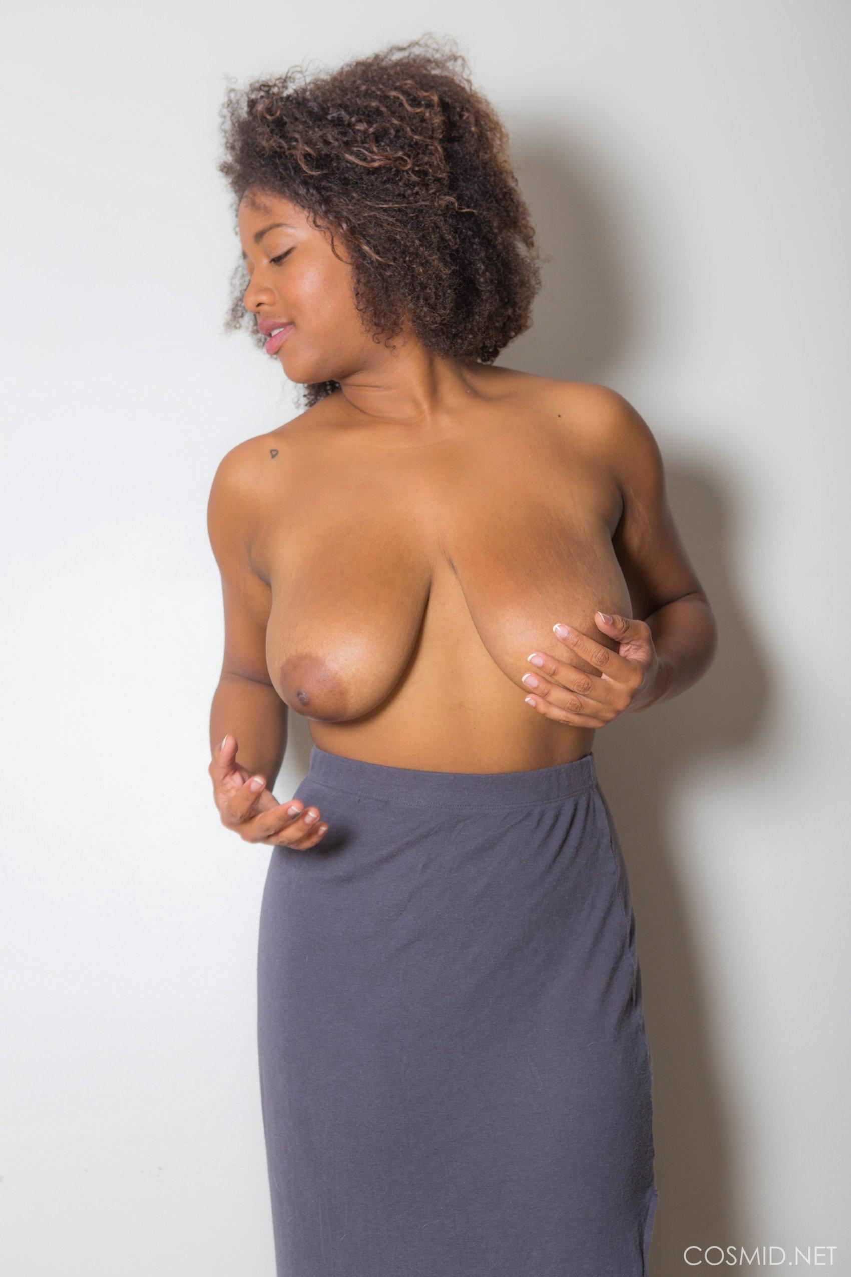 Busty Ebony Babe Whitney Williams Strips Out Of Her Long Skirt  Coed -2259