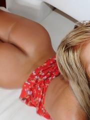 Horny amateur blond gets her pussy fucked hard and face filled with cum