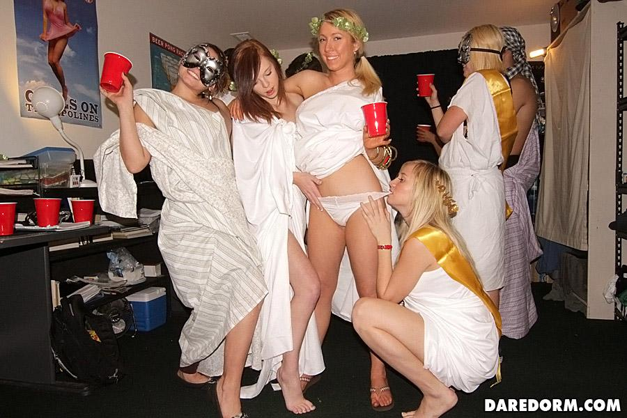coed toga party