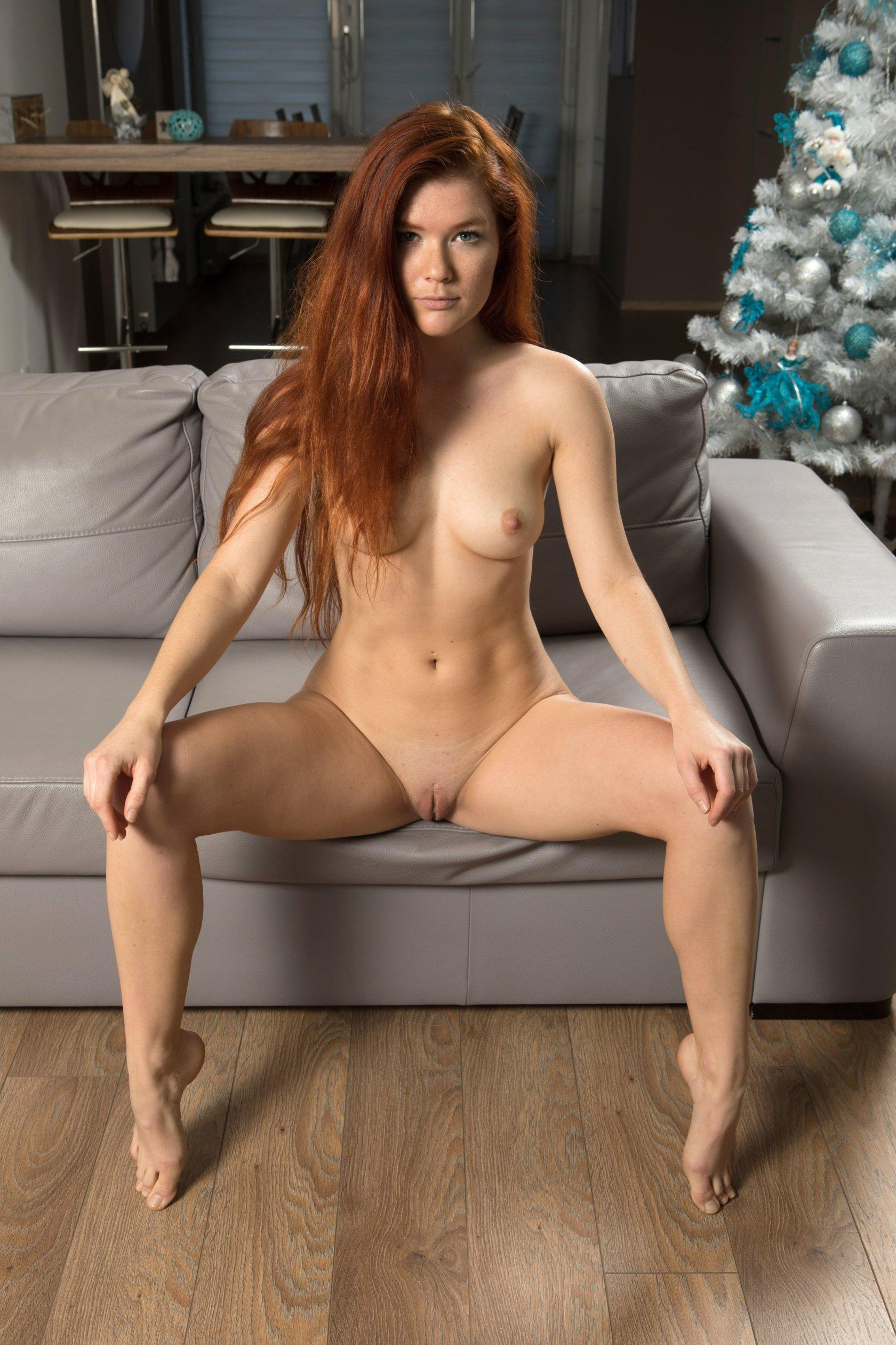 Redhead Teen Mia Sollis Strips Nude For You  Coed Cherry-2225