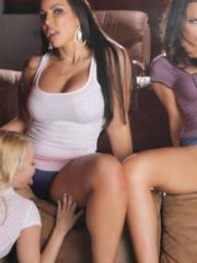 Destiny enjoys some hot lesbian action with Aaliyah, Cherie and Briana