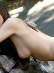 A little Destiny Moody goes down nice when she's on the rocks and naked