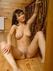 """Busty babe Olesya D shows off her nude body in """"At The Cabin"""""""