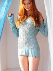 """Redhead teen Indiana strips for you in """"Naturally Red"""""""
