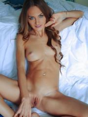 Beautiful redhead Jolie A gives you her hot body