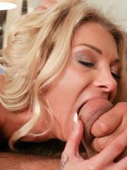 Busty blonde Synthia Fixx cheats on her husband while he's sleeping