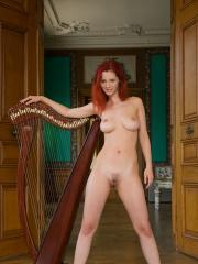 Pictures of Ariel being a beautiful harpist for Valentine's Day