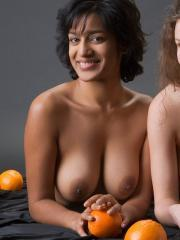 Femjoy's Dasari and Susann in Oranges