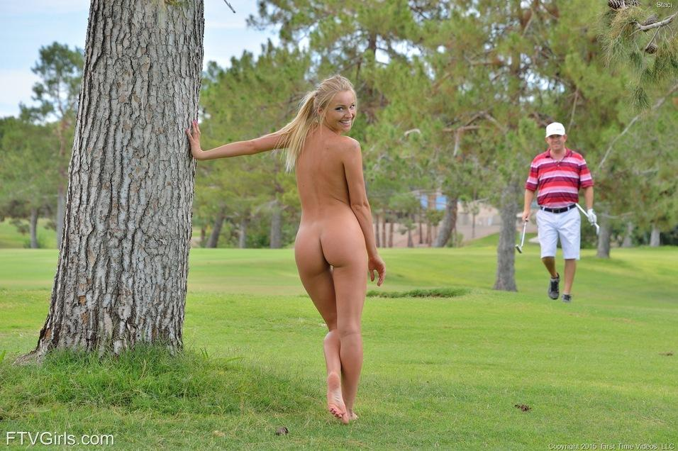 Words... Nude girl golf course