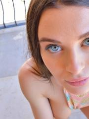 """Busty brunette Lana masturbates for you in """"Even More Gorgeous"""""""