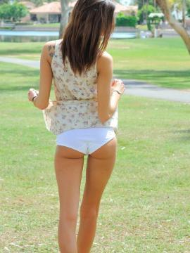 Brunette teen Jody invites you to play the hottest game of golf ever