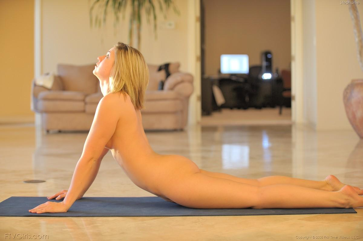 coed girls naked doing yoga