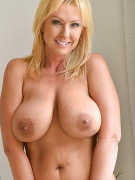 "Busty blonde Milf Alysha masturbating in ""Go Big Or Go Home"""