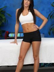 Gorgeous Kourtney Kane gets a massage and a a lot more from her massage therapist