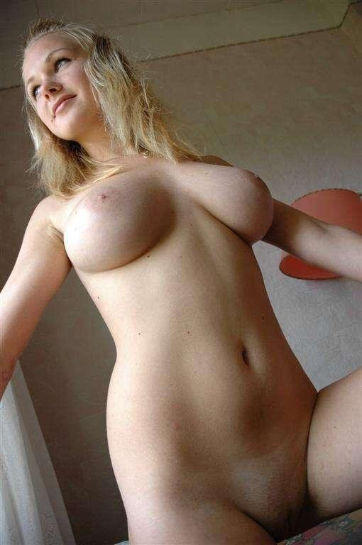 Busty Blonde Gf Strips Naked To Show Her Big Beautiful -5278