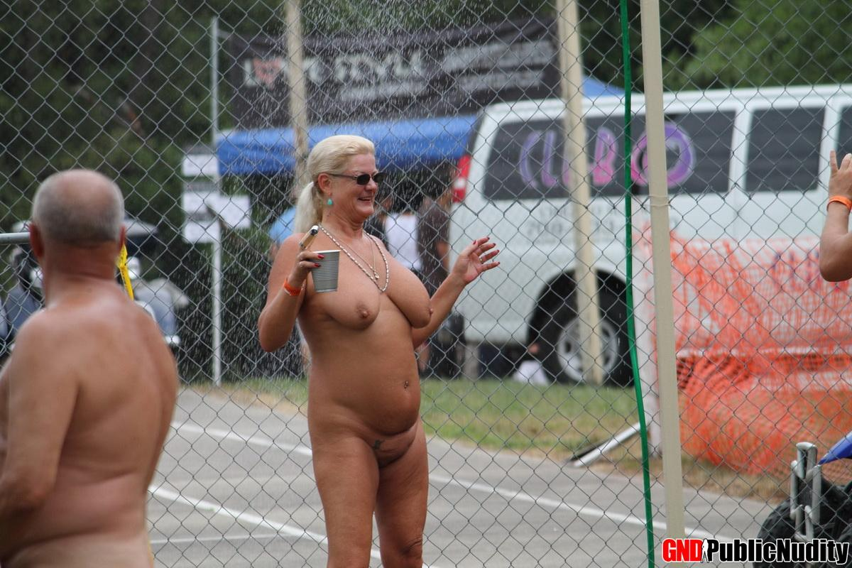No ones shy at a public nudity party where hot girls walk ...