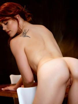 Molly Stewart strips out of her white lingerie