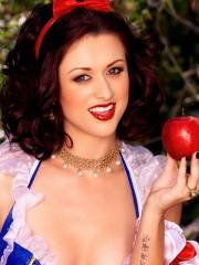 Pictures of Karlie Montana masturbating in a Snow White cosplay set