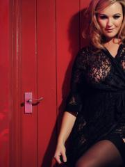Jodie Gasson shows you her big boobs in sexy black lingerie