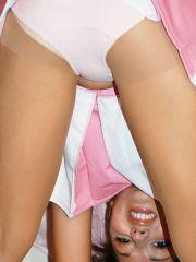 Pictures of Jordan Capri in a pink cheerleader\'s uniform