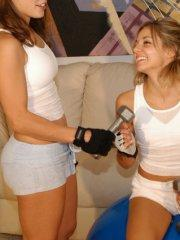 Pictures of teen Jordan Capri working out with Tawnee