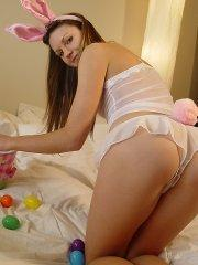 Pictures of teen amateur Josie Model dressed for some wild bunny sex