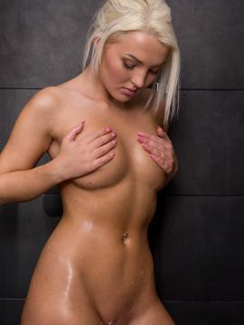 Blonde babe Lovita Fate having hot sex in and out of the shower
