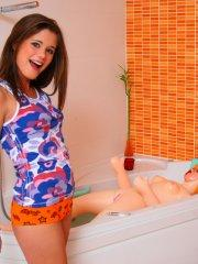 Pictures of Little Caprice fucking Sabrina Blond