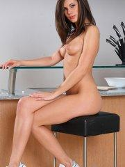 Pictures of Little Caprice getting dirty in the kitchen