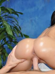 Sweet 18 year-old brunette massage therapist Lola gives a little more than a massage!