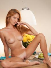 """Beautiful redhead Michelle H serves you her pussy for breakfast in """"Marcila"""""""