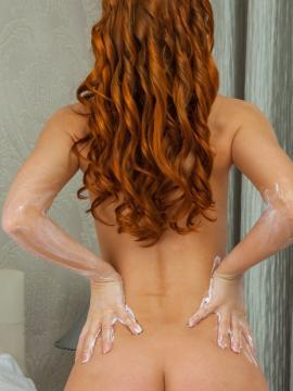 """Redhead hottie Carinela gets naked for you in """"Tarieg"""""""